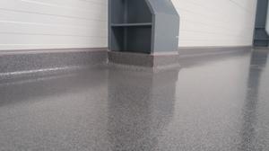 Detail des Quarzcolor-Bodens in der Fleischindustrieanlage.