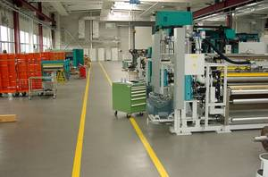 ECO epoxy & quartz covering system at a mechanical plant.