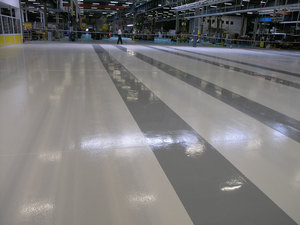 Quarzcolor epoxy & quartz system made for an automotive industry partner
