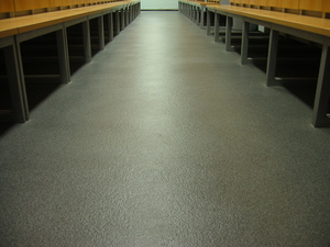 Quarzcolor resin floor in social rooms.