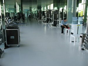 Lago smooth epoxy floor made by our company in Switzerland.