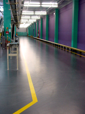 Quarzcolor floor at our customer's tobacco industry plant.